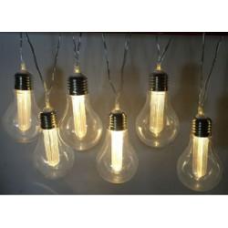 Guirlande solaire Edison 8 LED