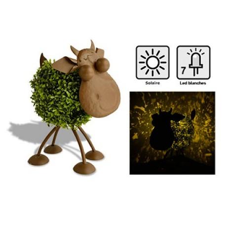 Vache solaire Adélaïde - Décoration lumineuse pour jardin