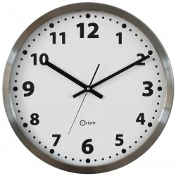 Horloge basique en inox Ø45