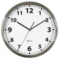Horloge basique en inox Ø34