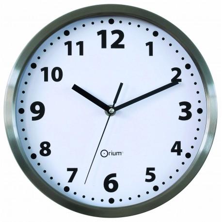 Horloge basique en inox Ø25