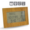 Horloge calendrier RC Memento imitation bois