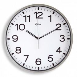 Horloge silencieuse Ø30 gris