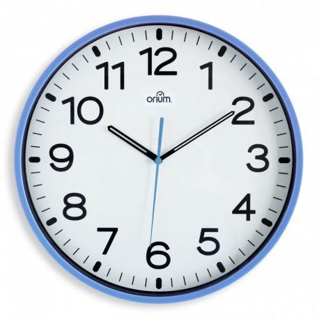 Horloge silencieuse Ø30 bleu