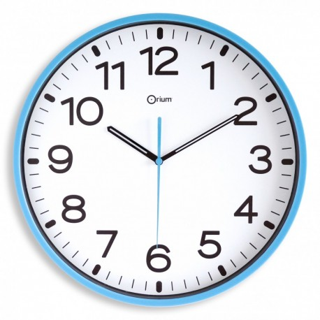 Horloge silencieuse Ø30 azur