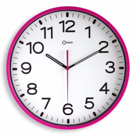 Horloge silencieuse Ø30 fuchsia