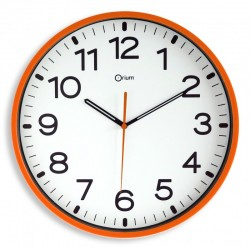 Horloge silencieuse Ø30 orange