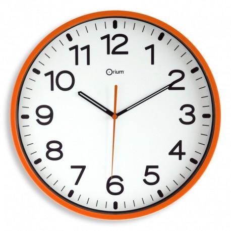 Horloge silencieuse Ø30 orange