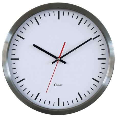 Horloge inox gare Ø35