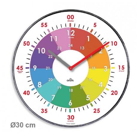 Horloge Silencieuse Practice Diametre 30cm Apprentissage De L Heure