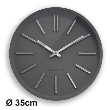 Horloge silencieuse Goma Ø35 gris