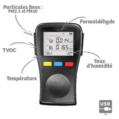 Mesureur qualité de l'air Complet Portable