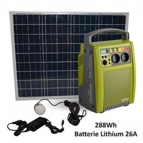 Batterie autonome rechargeable solaire Mundus SparkLi 26288Wh