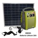 Batterie autonome rechargeable solaire Mundus SparkLi 26 288Wh