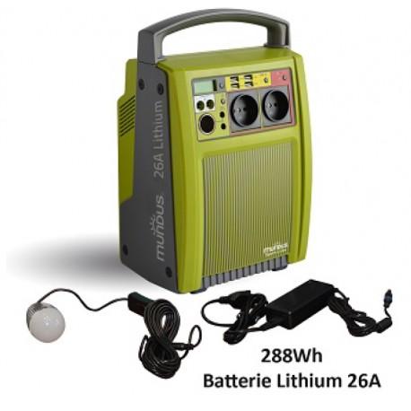 Batterie autonome rechargeable Mundus SparkLi 26 288Wh