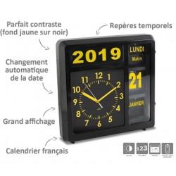Horloge à date à volets Visual