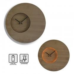 Horloge lumineuse Woody Ø35cm
