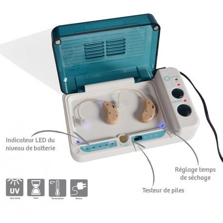 Boîte de séchage pour amplificateurs d'écoute