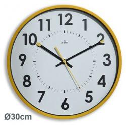 Horloge silencieuse Abylis Ø30cm - Ocre