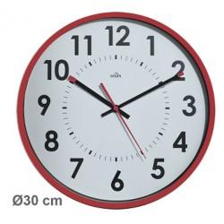 Horloge silencieuse Abylis Ø30cm - Lie de vin