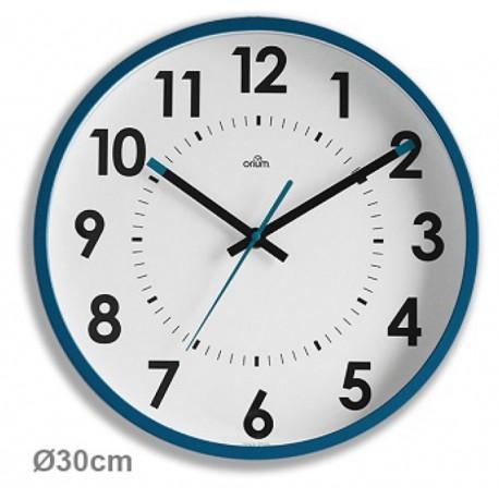 Horloge silencieuse Abylis Ø30cm - bleu canard