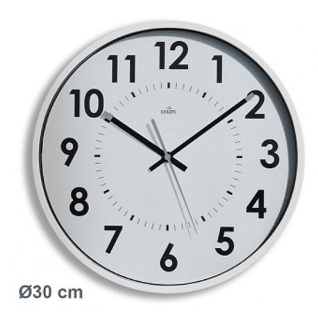 Horloge silencieuse Abylis Ø30cm - blanc