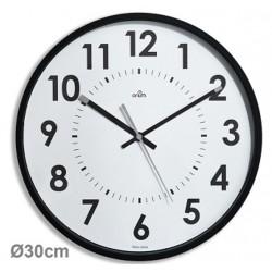 Horloge silencieuse Abylis Ø30cm - noir