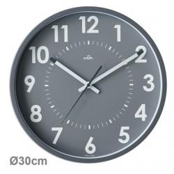 Horloge silencieuse Abylis Ø30cm - gris