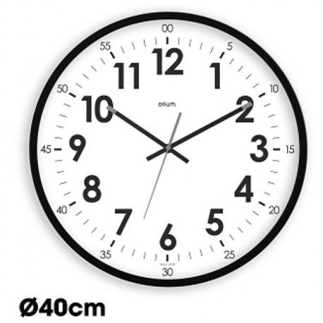 Horloge quartz silencieuse Oris Ø40cm - noir