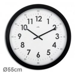 Horloge géante silencieuse Imperia Ø55cm noire