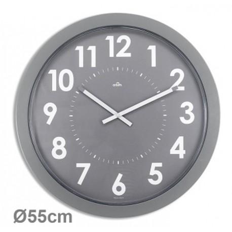 Horloge géante silencieuse Imperia Ø55cm grise