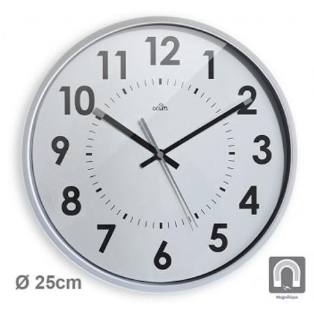 Horloge silencieuse Magneto Ø25cm