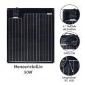 Panneau solaire semi-rigide 50W Monocristallin