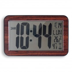 Horloge RC digitale 9.5cm bois