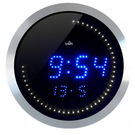 Horloge LED température et date Ø30