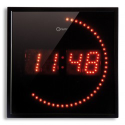 Horloge à LED rouge