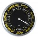 Horloge contraste hebdomadaire - Ø30