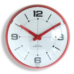 Horloge Bulle rouge Ø25 cm