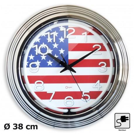Horloge néon US Ø38