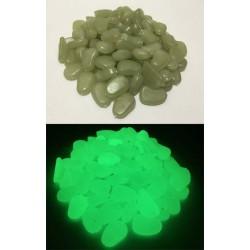 100 pierres phosphorescentes vertes