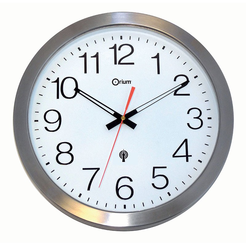 Horloge tanche rc en inox 35 for Pendule cuisine inox