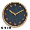 Horloge Cosy silencieuse Ø35