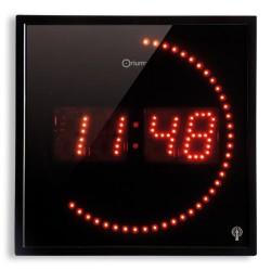 Horloge à LED rouge radio-contrôlée