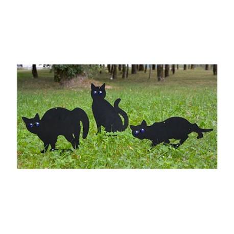 3 chats noirs effaroucheurs